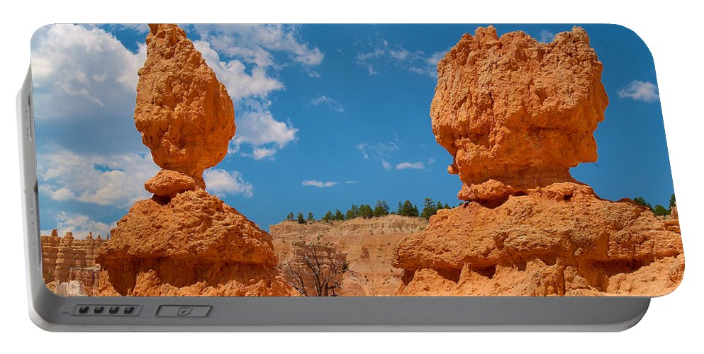 Bryce Canyon Portable Battery Charger featuring the photograph Bryce Spirals 3 by Richard J Cassato