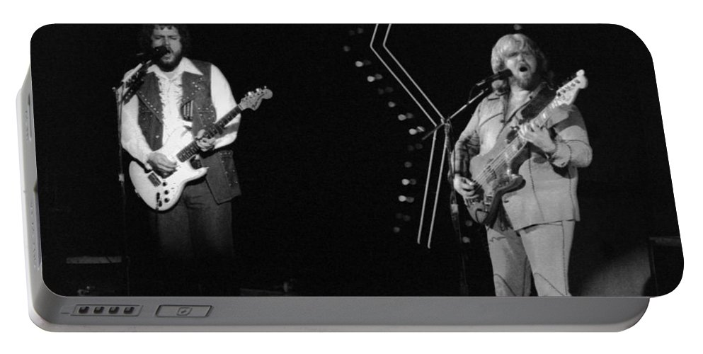 Bachman-turner Overdrive Portable Battery Charger featuring the photograph Bto In Spokane In 1976 by Ben Upham