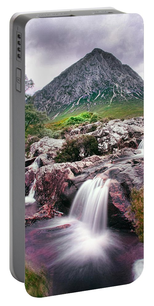 Buachaille Etive Portable Battery Charger featuring the photograph Buachaille Etive by Les McLuckie