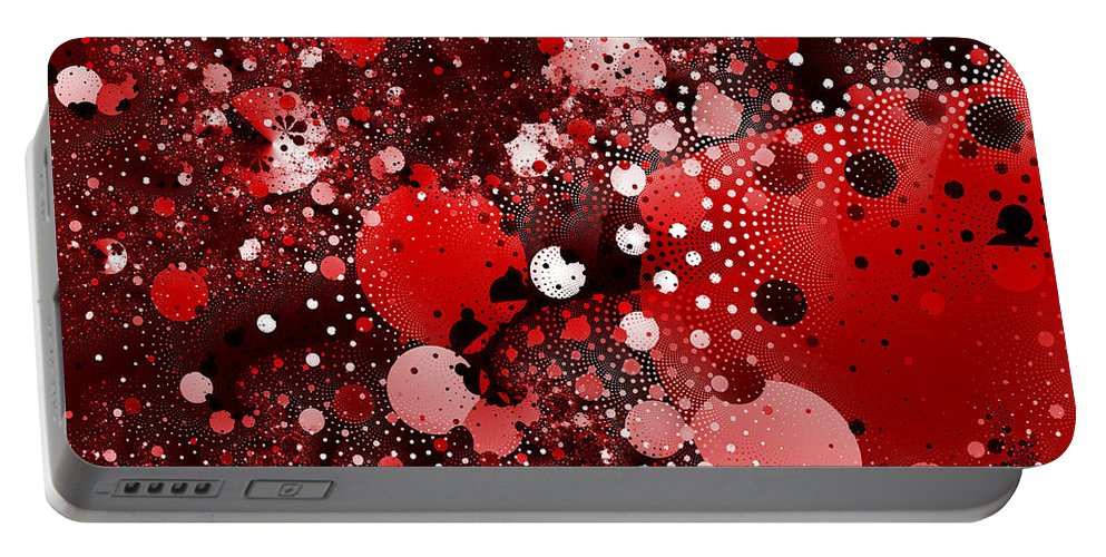 Abstract Portable Battery Charger featuring the digital art Bubbles by David Ridley