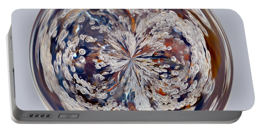 Orb Portable Battery Charger featuring the photograph Bubbly Orb by Brent Dolliver