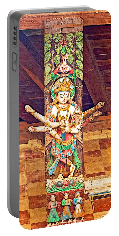 Buddha Image In Patan Durbar Square In Lalitpur In Nepal Portable Battery Charger featuring the photograph Buddha Image In Patan Durbar Square In Lalitpur-nepal  by Ruth Hager
