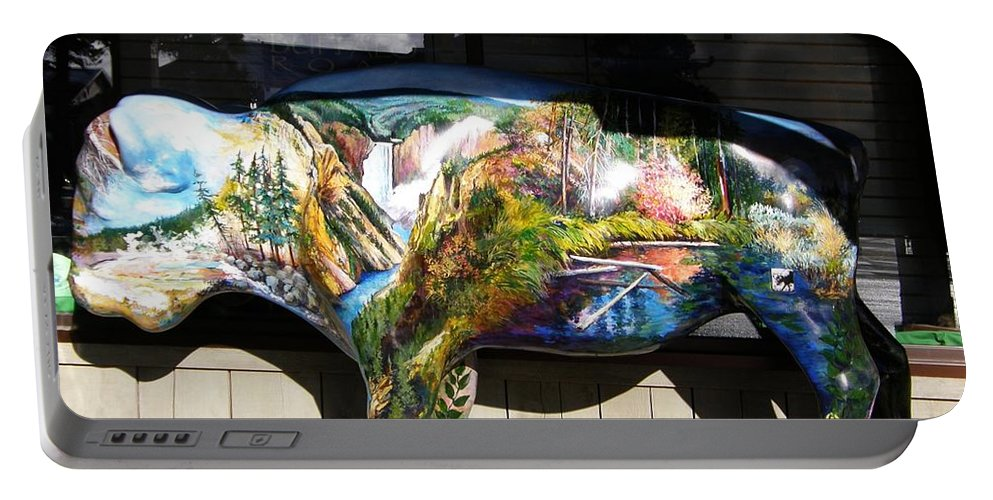 Jackson Hole Portable Battery Charger featuring the photograph Buffalo Art by Image Takers Photography LLC