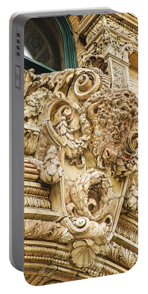 Embellishment Portable Battery Charger featuring the photograph Buffalo In Baffalo by Eric Swan