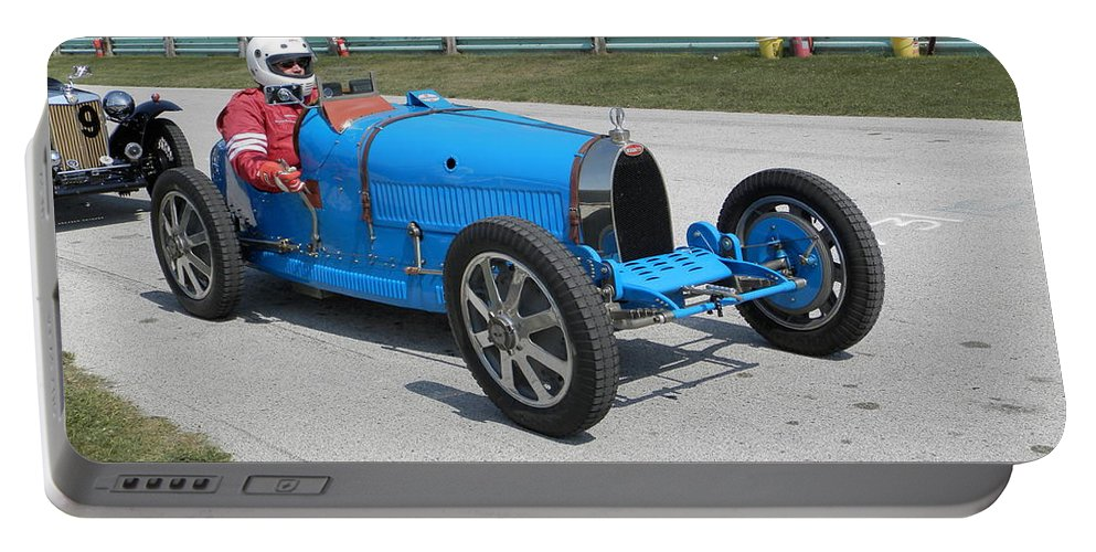 Bugatti Portable Battery Charger featuring the photograph Bugatti Type 35 Racer by Neil Zimmerman