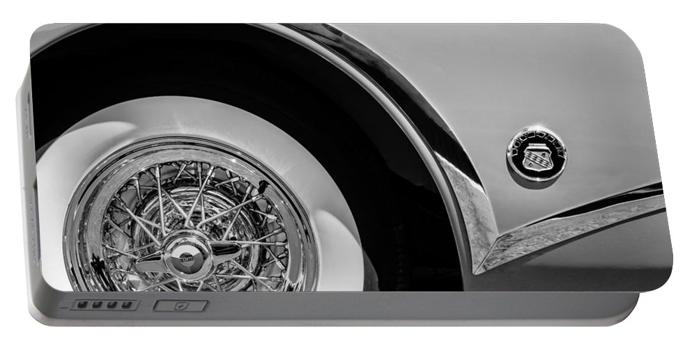 Buick Skylark Wheel Emblem Portable Battery Charger featuring the photograph Buick Skylark Wheel Emblem by Jill Reger