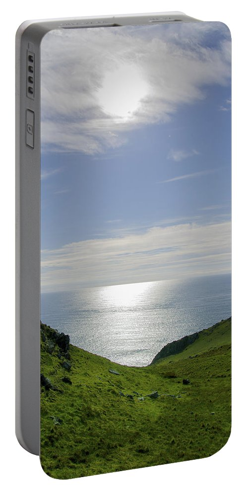 Bunglass Portable Battery Charger featuring the photograph Bunglass - Donegal Ireland by Bill Cannon