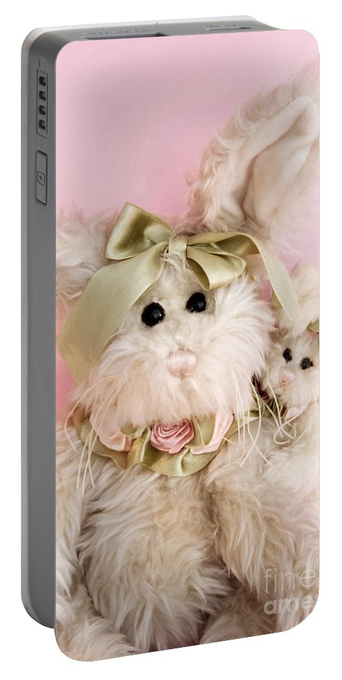 Kids Portable Battery Charger featuring the photograph Bunny Love by Robin Lynne Schwind