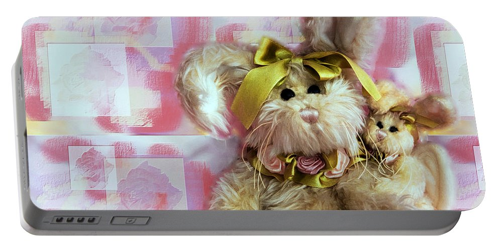 Kids Portable Battery Charger featuring the photograph Bunny Rose by Robin Lynne Schwind