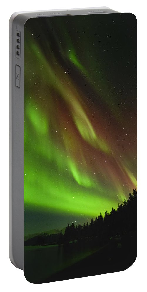 Aurora Portable Battery Charger featuring the photograph Burgundy by Ted Raynor