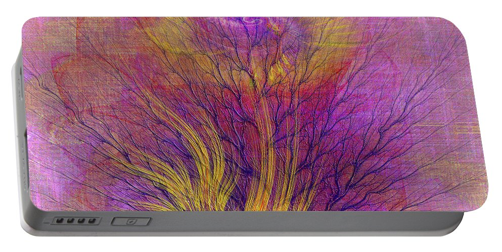 Religious Portable Battery Charger featuring the digital art Burning Bush - Square Version by John Beck