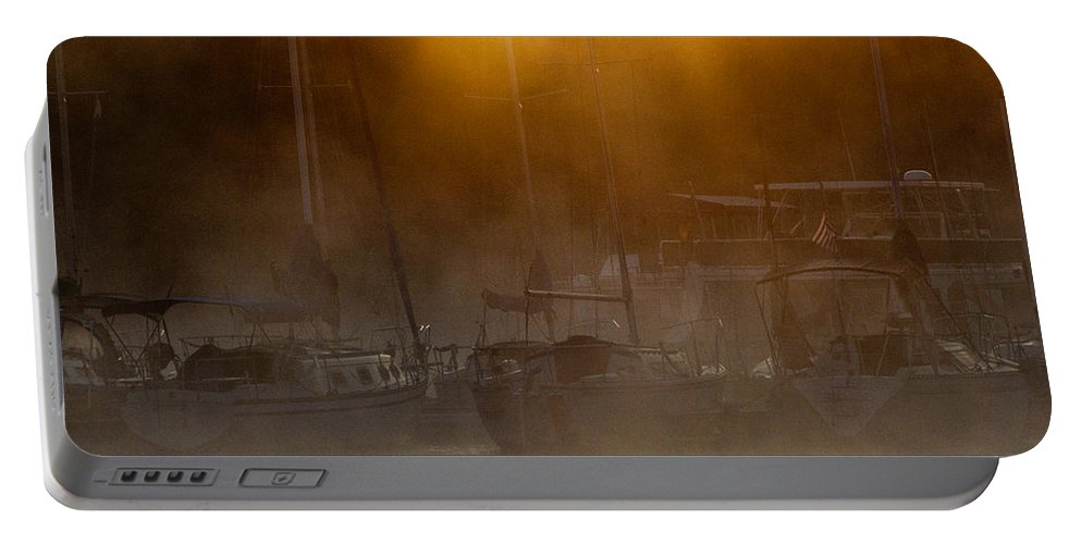 Cherokee Portable Battery Charger featuring the photograph Burning Through The Fog by Douglas Stucky