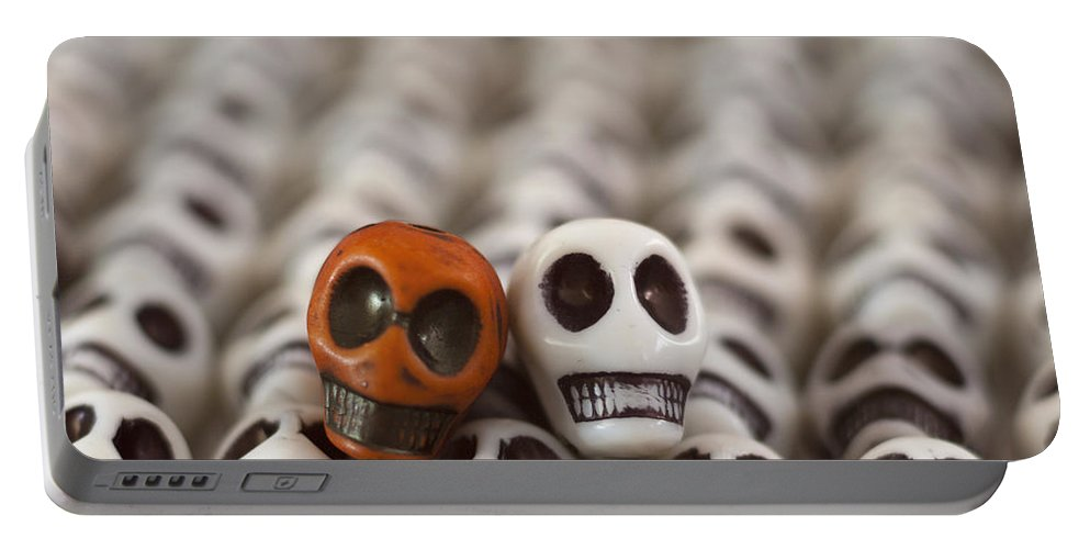 Smiles Portable Battery Charger featuring the photograph Burnt Orange And White by Mike Herdering