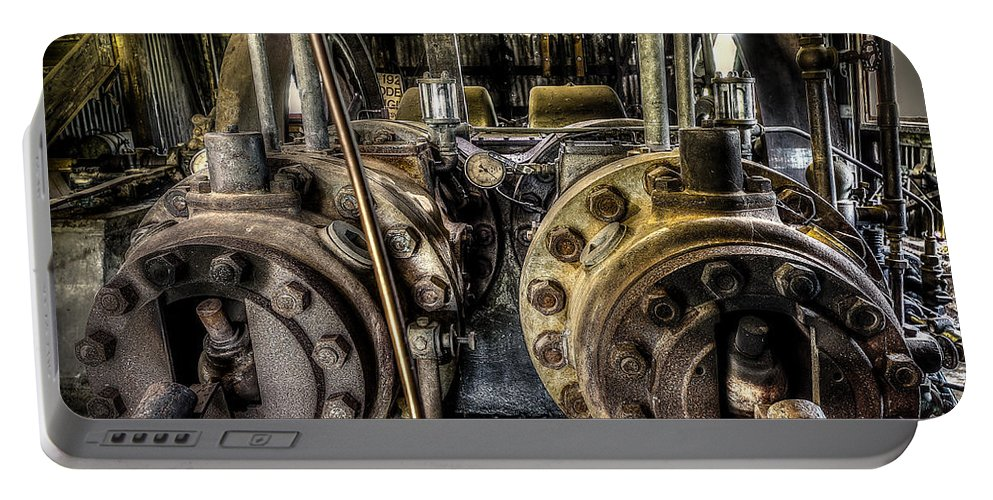 Burton Cotton Gin Portable Battery Charger featuring the photograph Burton Cotton Gin Bessemer Engine by David Morefield