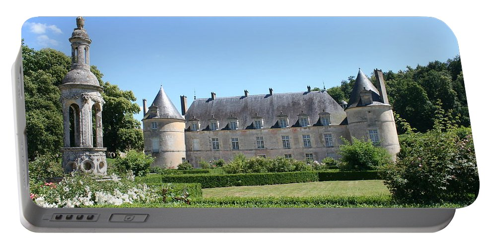 Palace Portable Battery Charger featuring the photograph Bussy - Rabutin Palace Garden by Christiane Schulze Art And Photography