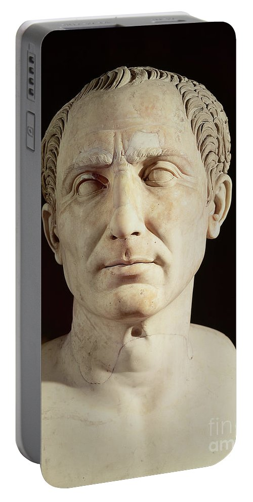 Portrait Portable Battery Charger featuring the sculpture Bust Of Julius Caesar by Anonymous