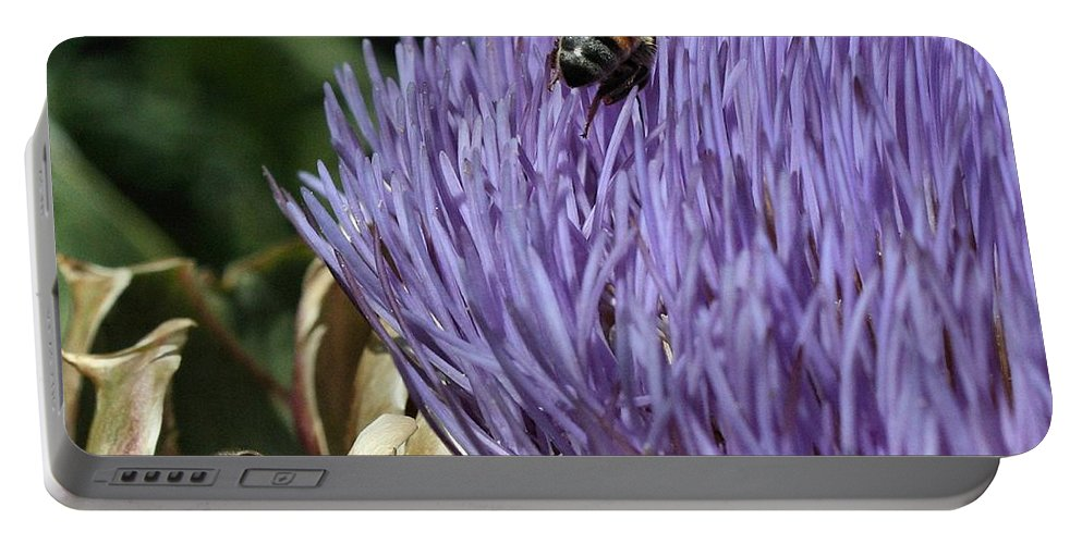 Nature Portable Battery Charger featuring the photograph Busy Bees by Michael Gordon