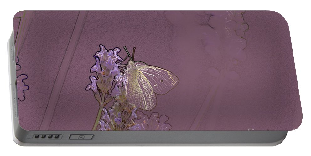 Butterfly Portable Battery Charger featuring the digital art Butterfly 1 by Carol Lynch
