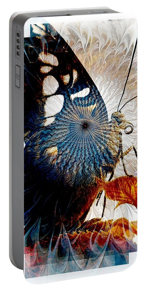 Digital Art Portable Battery Charger featuring the digital art Butterfly 2 by Amanda Moore