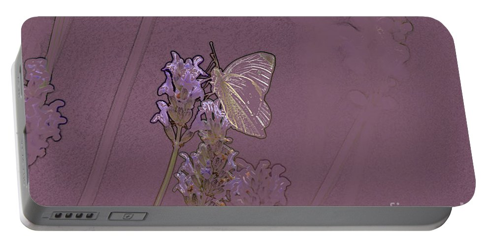Butterfly Portable Battery Charger featuring the digital art Butterfly 2 by Carol Lynch