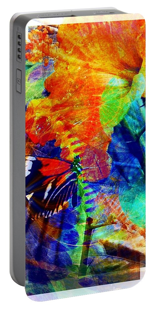 Digital Art Portable Battery Charger featuring the digital art Butterfly 4 by Amanda Moore
