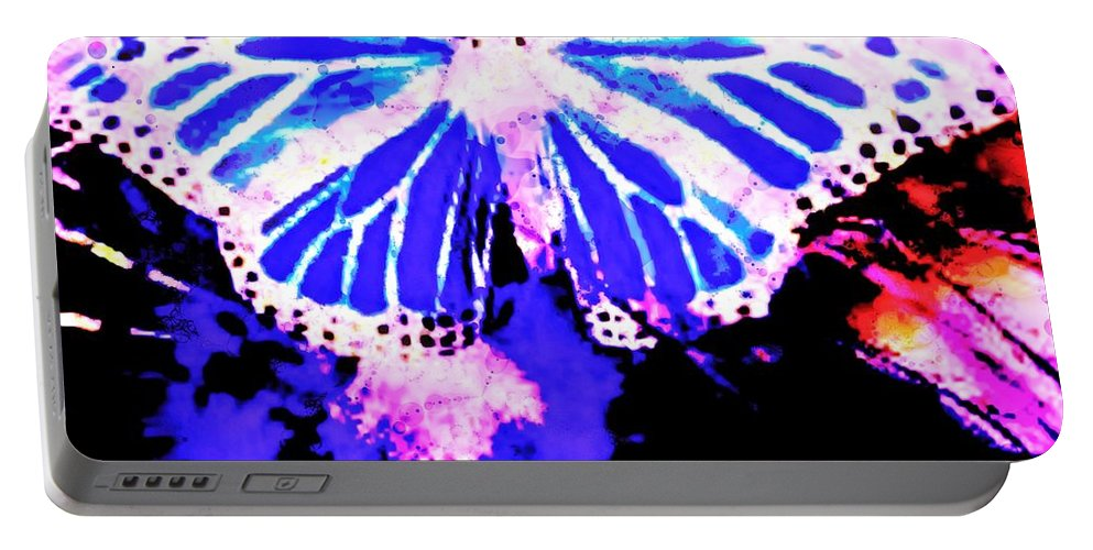 Fractal Art Portable Battery Charger featuring the digital art Butterfly 4 by Elizabeth McTaggart