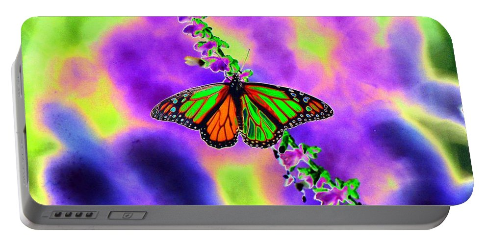 Butterfly Portable Battery Charger featuring the photograph Butterfly - Monarch - Photopower 1551 by Pamela Critchlow