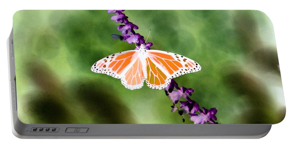 Butterfly Portable Battery Charger featuring the photograph Butterfly - Monarch - Photopower 319 by Pamela Critchlow
