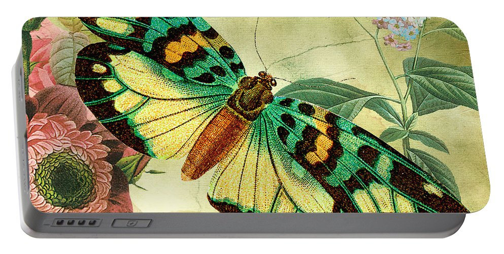 Digital Art Portable Battery Charger featuring the digital art Butterfly Visions-a by Jean Plout
