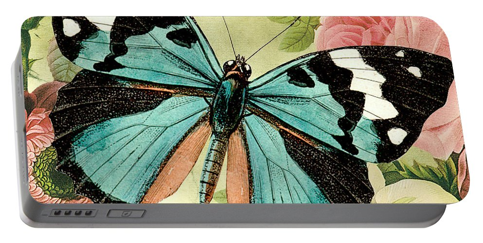 Digital Art Portable Battery Charger featuring the digital art Butterfly Visions-b by Jean Plout