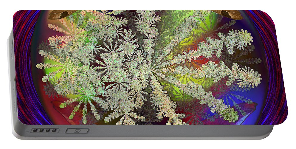 Earth Portable Battery Charger featuring the digital art Butterfly Water Globe  by Joseph Mosley