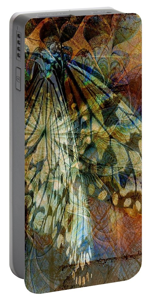 Digital Art Portable Battery Charger featuring the digital art Butterfly Wings by Amanda Moore