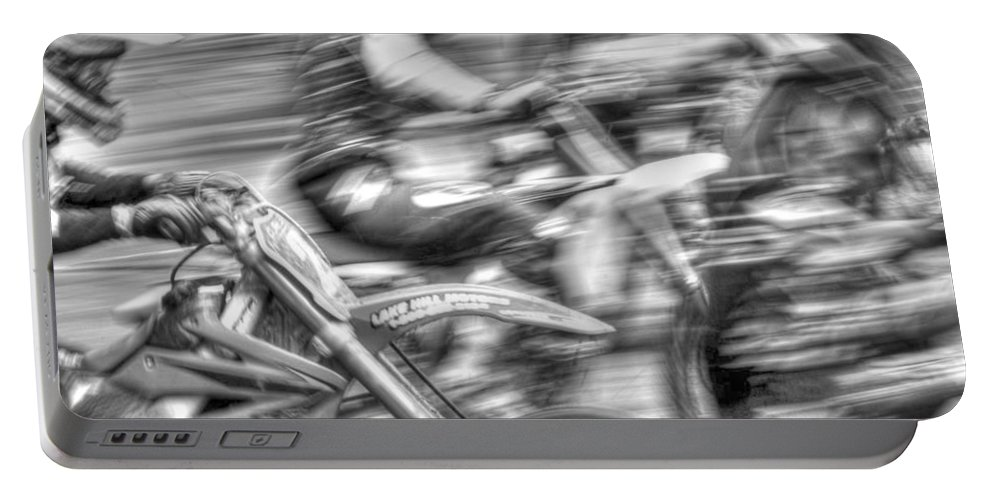 Blur Portable Battery Charger featuring the photograph Bw Mx by Randy Walton