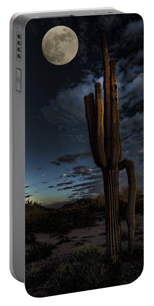 Moon Portable Battery Charger featuring the photograph By The Light Of The Moon by Saija Lehtonen