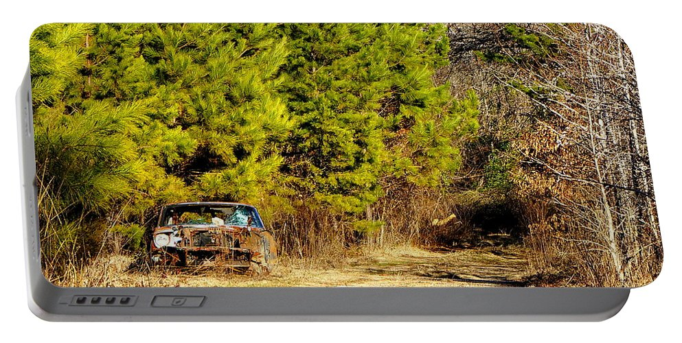 Car Portable Battery Charger featuring the photograph By The Roadside by Darrell Clakley