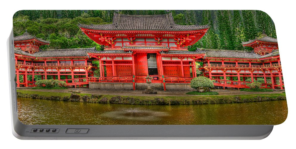 Bydo-in Temple Portable Battery Charger featuring the photograph Bydo-in Temple 2 by Richard J Cassato