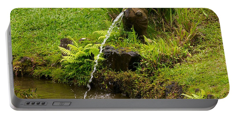 Byodo In Temple Portable Battery Charger featuring the photograph Byodo In Temple by Richard J Cassato
