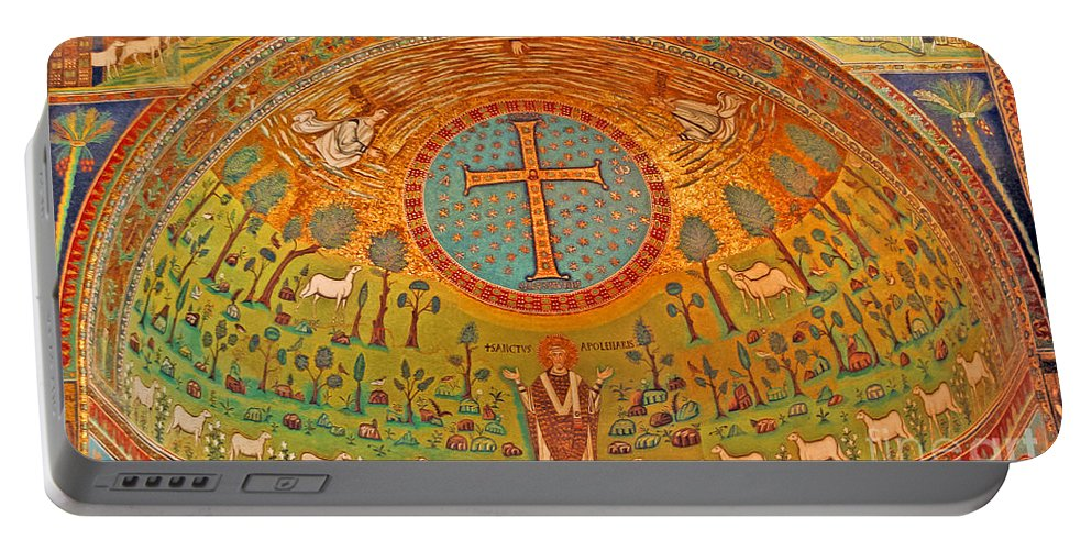 Travel Portable Battery Charger featuring the photograph Byzantine Mosaic by Elvis Vaughn