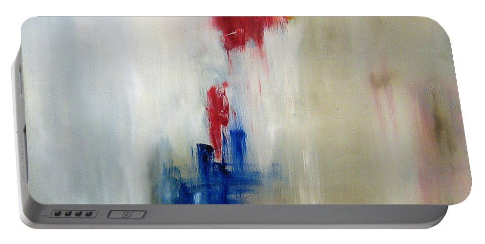 Abstract Painting Portable Battery Charger featuring the painting C-15 by Jeff Barrett