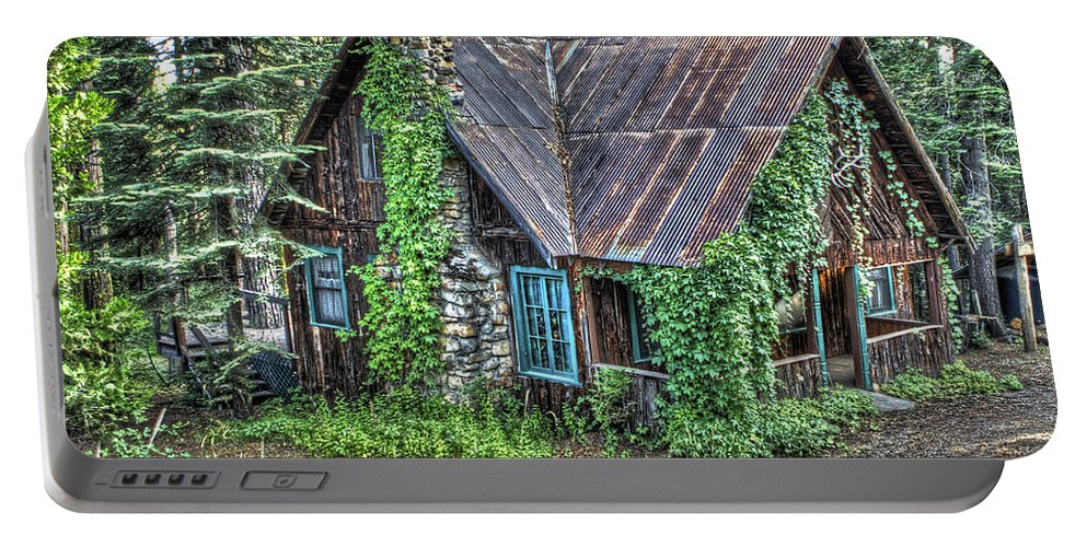 Cabin Portable Battery Charger featuring the photograph Cabin At Cooks Station by SC Heffner