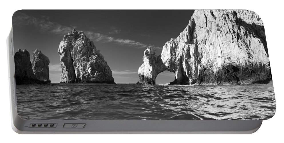 Los Cabos Portable Battery Charger featuring the photograph Cabo In Black And White by Sebastian Musial