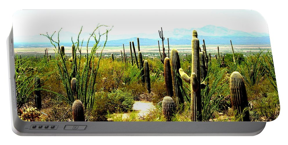 Arizona Portable Battery Charger featuring the photograph Cacti Garden by Darrell Clakley