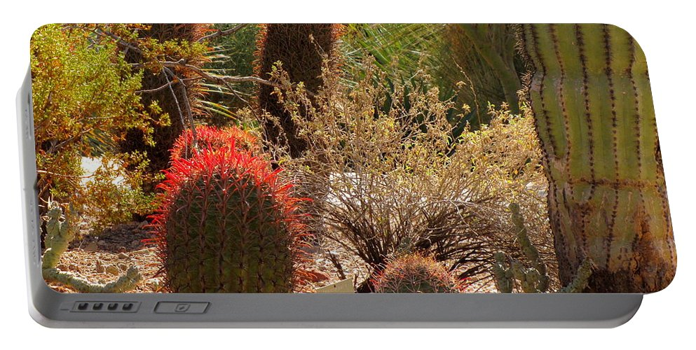 Cactus Portable Battery Charger featuring the photograph Cactus Garden by Marilyn Smith