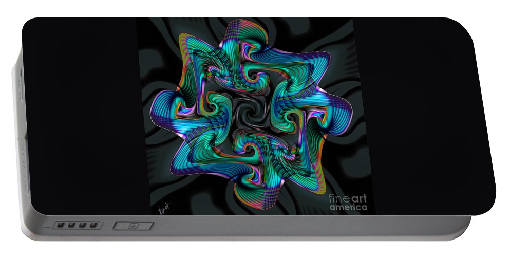 Cadenza Portable Battery Charger featuring the digital art Cadenza by Kimberly Hansen