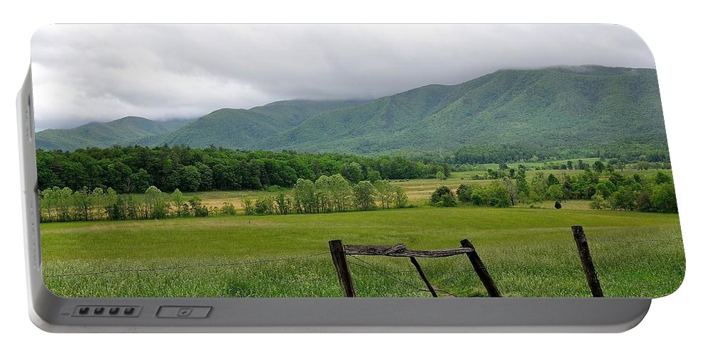 Cades Cove Portable Battery Charger featuring the photograph Cades Cove Mountains 1 by Todd Hostetter