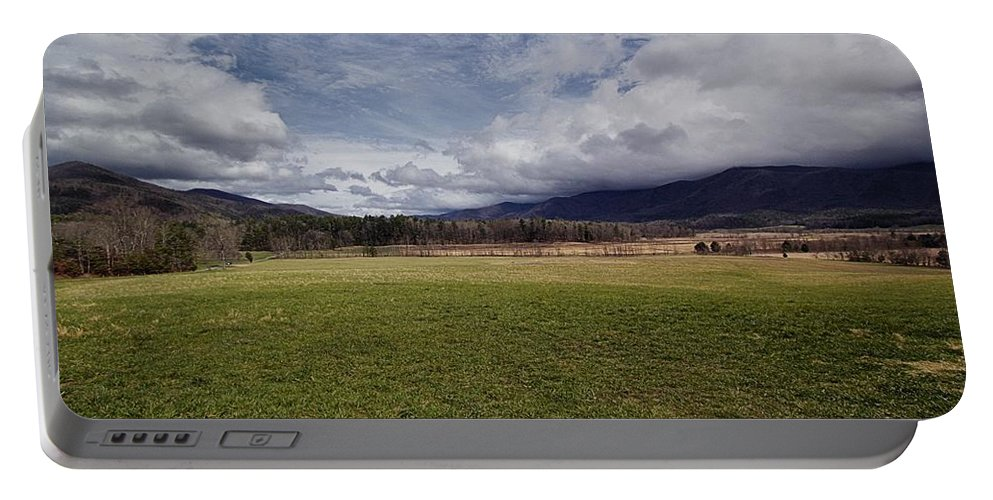 Cades Cove Scenic Photography Portable Battery Charger featuring the photograph Cades Cove Scene II by Mel Hensley