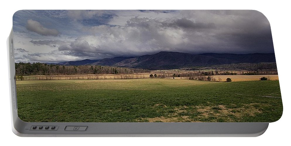 Cades Cove Portable Battery Charger featuring the photograph Cades Cove Scene by Mel Hensley
