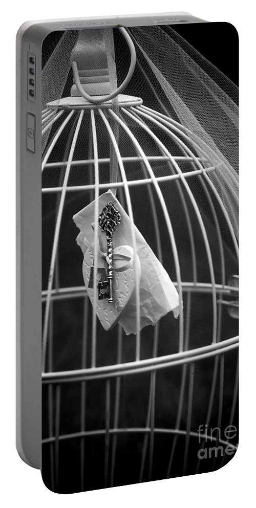 Art Portable Battery Charger featuring the photograph Cage by Svetlana Sewell