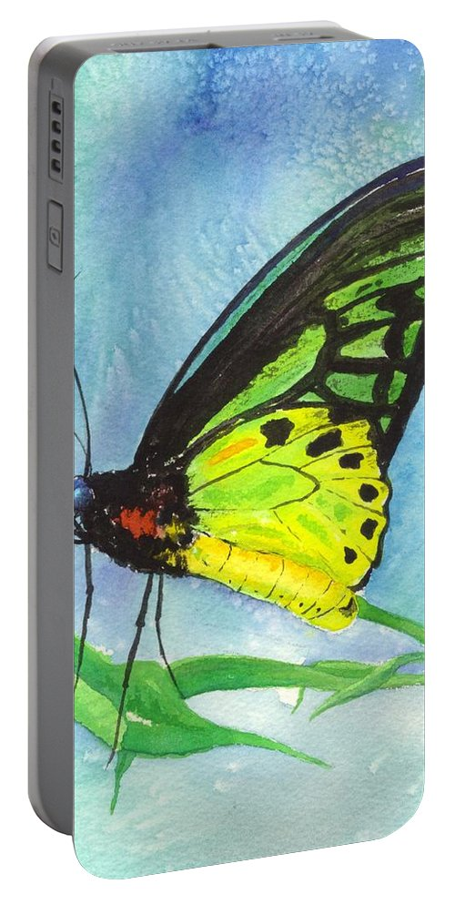 Australia Portable Battery Charger featuring the painting Cairns Birdwing by Gale Cochran-Smith