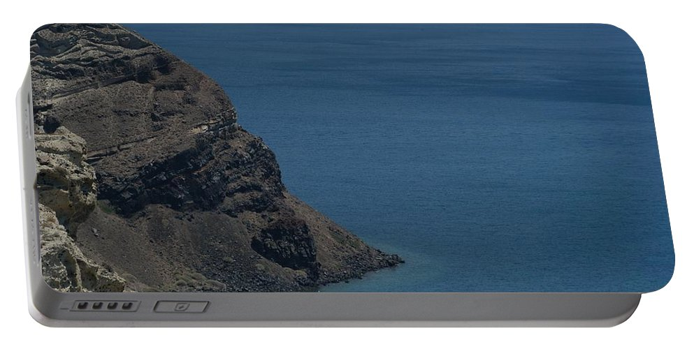 Aegean Sea Portable Battery Charger featuring the photograph Caldera by Joseph Yarbrough